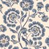 Kép 2/3 - Öntapadós tapéta - kék vintage virág minta