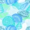 Kép 2/3 - Öntapadós tapéta - csigák és kagylók minta