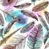 Kép 2/3 - Öntapadós tapéta madártoll minta