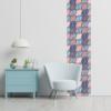Kép 3/3 - Öntapadós tapéta absztrakt színes motívumok 60x300 cm
