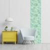 Kép 3/3 - Öntapadós tapéta - halványzöld nővényes - 60x200 cm