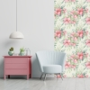 Kép 1/3 - Öntapadós tapéta - rózsaszín akvarell virág mintás