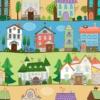 Kép 2/3 - Öntapadós tapéta - színes utcákkal - minta