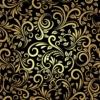 Kép 2/3 - Öntapadós tapéta - retró virágminta