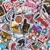 Kép 2/3 - Öntapadós tapéta - színes suli utcákkal - minta
