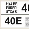 Kép 2/4 - Egyedi busz tábla nevekkel, címekkel - kétoldalas - részlet1