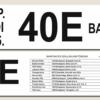 Kép 3/4 - Egyedi busz tábla nevekkel, címekkel - kétoldalas - részlet2