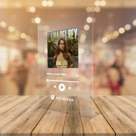 Spotify plexi zene tábla A4 méret