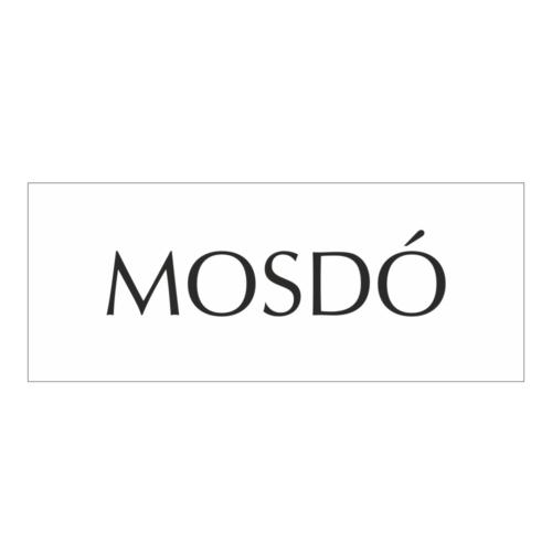 Mosdó - műanyag ajtótábla - fehér/fekete - fóliázott
