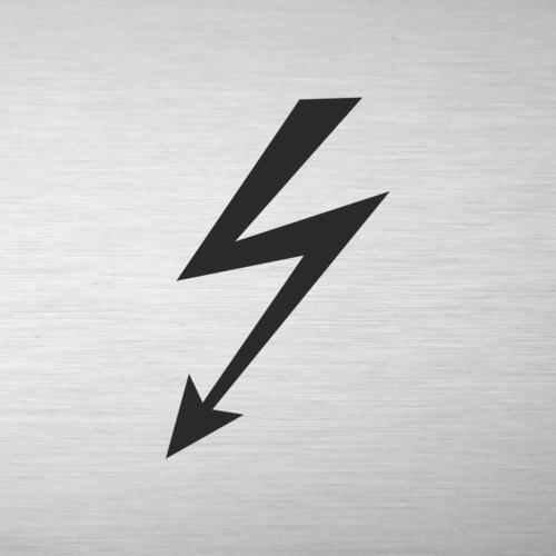 Alumínium piktogram - Elektromos kapcsolószekrény -  négyszögletes - gravírozott