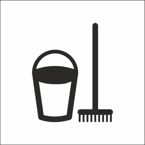 Műanyag piktogram - Elektromos kapcsolószekrény - fehér/fekete - fóliázott