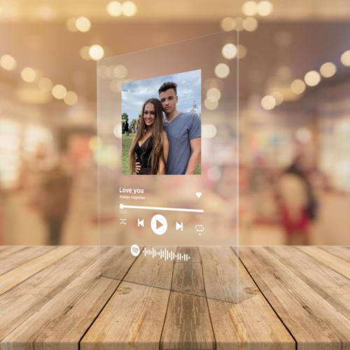 Spotify plexi ajándék tábla