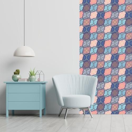 Öntapadós tapéta - absztrakt színes motívumokkal