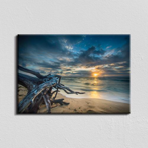 Vászonkép - tengerparti naplemente - 40x60 cm