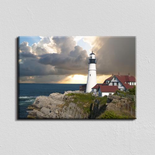 Vászonkép - világítótorony - 40x60 cm