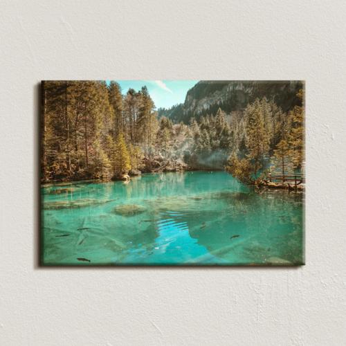 Vászonkép - Hegyi tó - 40x60 cm