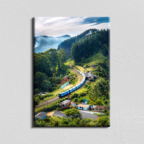 Vászonkép - Transzszibériai vasút - egyedi méret